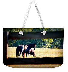 Weekender Tote Bag featuring the photograph Horse Photography by Peggy Franz