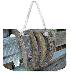 Horse Shoes Weekender Tote Bag by Kerri Mortenson