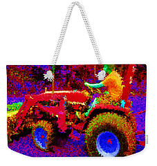 Weekender Tote Bag featuring the photograph Hot Afternoon On A John Deere Tractor by George Pedro