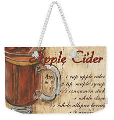 Hot Apple Cider Weekender Tote Bag