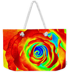 Hot Rose Weekender Tote Bag