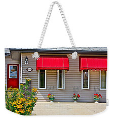 House With Red Shades. Weekender Tote Bag
