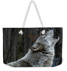 Howling Tundra Wolf Weekender Tote Bag