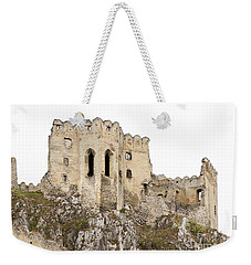 Weekender Tote Bag featuring the photograph Hrad Beckov Castle by Les Palenik