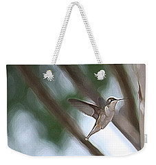 Weekender Tote Bag featuring the photograph Hummingbird by Donna  Smith