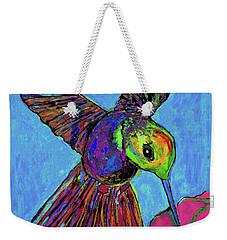 Hummingbird On Blue Weekender Tote Bag