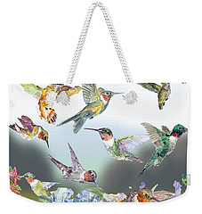 Hummingbirds Galore Weekender Tote Bag