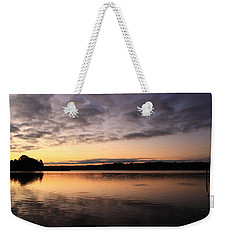 Hungry Fish At Sunrise Weekender Tote Bag by Catie Canetti