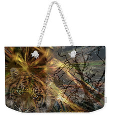 Weekender Tote Bag featuring the photograph Hunter by EricaMaxine  Price