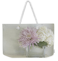 Hydrangea And Mum Weekender Tote Bag by Cindy Garber Iverson
