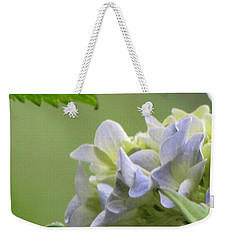 Weekender Tote Bag featuring the photograph Hydrangea Blossom by Katie Wing Vigil