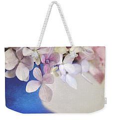 Hydrangeas In Deep Blue Vase Weekender Tote Bag
