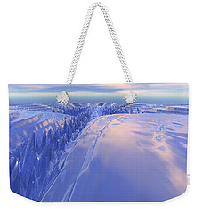Weekender Tote Bag featuring the digital art Ice Fissure by Phil Perkins