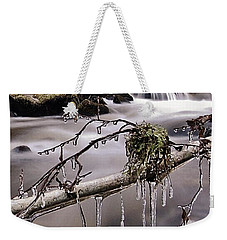 Weekender Tote Bag featuring the photograph Ice by Gavin Macrae