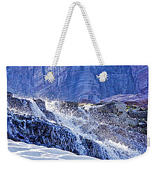 Icy Cascade Weekender Tote Bag by Albert Seger