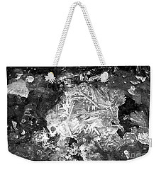 Weekender Tote Bag featuring the photograph Icy Road by Chalet Roome-Rigdon