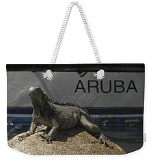 Weekender Tote Bag featuring the photograph Iguana by David Gleeson