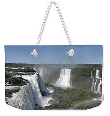 Weekender Tote Bag featuring the photograph Iguazu Falls by David Gleeson