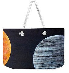 Weekender Tote Bag featuring the painting Illumination by Barbara Moignard