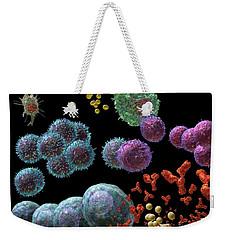 Immune Response Antibody 2 Weekender Tote Bag by Russell Kightley