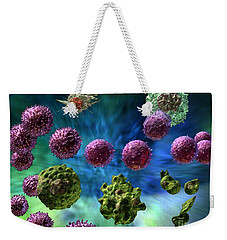 Weekender Tote Bag featuring the digital art Immune Response Cytotoxic 1 by Russell Kightley