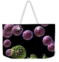 Weekender Tote Bag featuring the digital art Immune Response Cytotoxic 2 by Russell Kightley