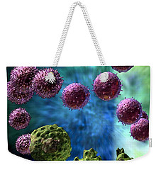 Weekender Tote Bag featuring the digital art Immune Response Cytotoxic 3 by Russell Kightley