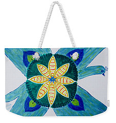 Weekender Tote Bag featuring the painting Impression by Sonali Gangane