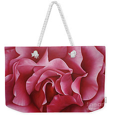 In The Heart Of A Rose Weekender Tote Bag