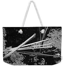 Weekender Tote Bag featuring the photograph In The Pond Asian Influence by Kathleen Grace