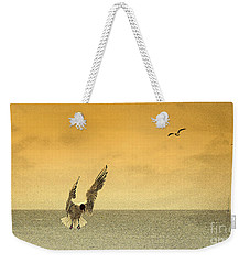 Weekender Tote Bag featuring the photograph Incoming by Linsey Williams