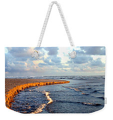 Weekender Tote Bag featuring the photograph Incoming Tide At Sundown by Will Borden