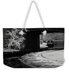 Weekender Tote Bag featuring the photograph Infrared At Llangollen Canal by Beverly Cash