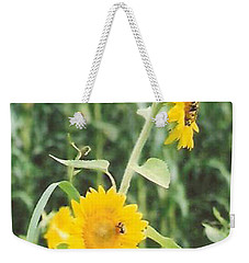 Insect On Sunflowers Weekender Tote Bag