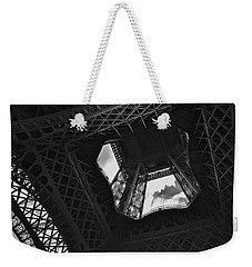 Weekender Tote Bag featuring the photograph Inside The Eiffel Tower by Eric Tressler