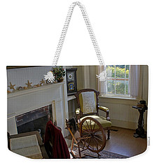 Weekender Tote Bag featuring the photograph Inside Yaquina Bay Lighthouse by Mick Anderson