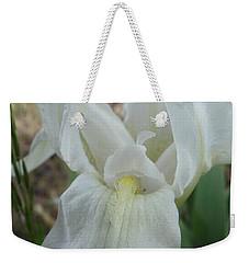 Weekender Tote Bag featuring the photograph Iris Angel by Kerri Mortenson