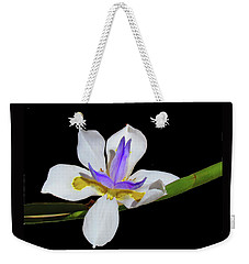 Weekender Tote Bag featuring the photograph Iris by Bonnie Muir