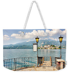 Island San Giulio On Lake Orta Weekender Tote Bag