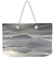 Weekender Tote Bag featuring the digital art Isle Of Serenity by Phil Perkins