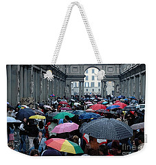 Weekender Tote Bag featuring the photograph It Rains by Vivian Christopher