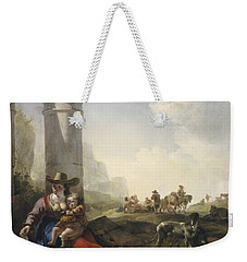 Italian Peasants Among Ruins Weekender Tote Bag