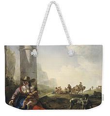 Italian Peasants Among Ruins Weekender Tote Bag by Jan Weenix