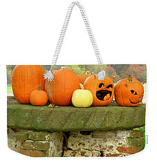 Weekender Tote Bag featuring the photograph Jack-0-lanterns by Lainie Wrightson