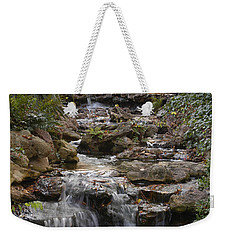 Waterfall In The Japanese Gardens, Ft. Worth, Texas Weekender Tote Bag