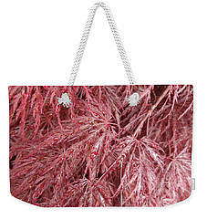 Weekender Tote Bag featuring the photograph Japanese Maple by Laurel Best