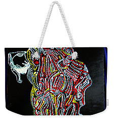 Weekender Tote Bag featuring the painting Japanese Opera - Noh by Gloria Ssali