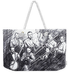 Jean Goldkette Orchestra 1926 Weekender Tote Bag by Mel Thompson