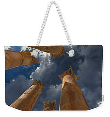 Weekender Tote Bag featuring the photograph Jerash by David Gleeson