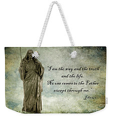 Jesus - Christian Art - Religious Statue Of Jesus - Bible Quote Weekender Tote Bag